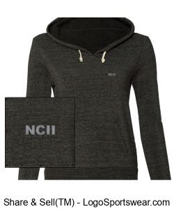 NCII SERGEANT ALTERNATIVE LADIES ATHLETIC ECO FLEECE HOODED PULLOVER Design Zoom