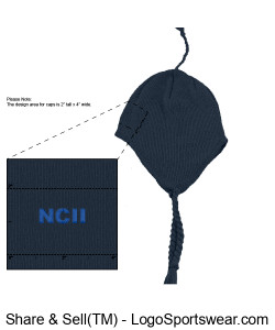 NCII APOLLO FLEECE LINED KNIT HAT WITH EAR FLAPS AND TASSEL Design Zoom