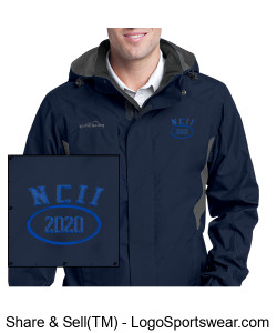 NATIONAL COUNCIL OF INTERGALACTIC INTERVENTION 2020 EDDIE BAUER RAIN JACKET Design Zoom