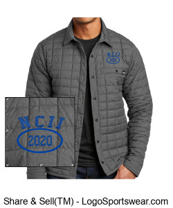 NATIONAL COUNCIL OF INTERGALACTIC INTERVENTION 2020 NORTH FACE MENS THERMOBALL ECO SHIRT JACKET Design Zoom