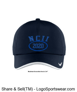 NATIONAL COUNCIL OF INTERGALACTIC INTERVENTION 2020 NIKE DRI-FIT SWOOSH PERFORATED CAP Design Zoom